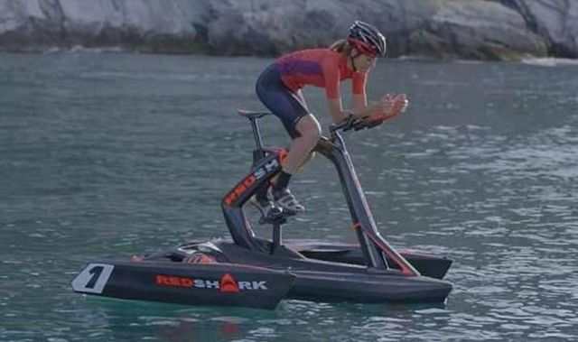 Red Shark pedal-powered trimaran