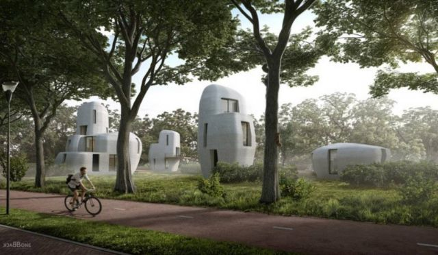 first commercial 3D-Printed Housing project