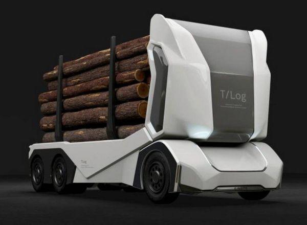 All-electric autonomous logging truck