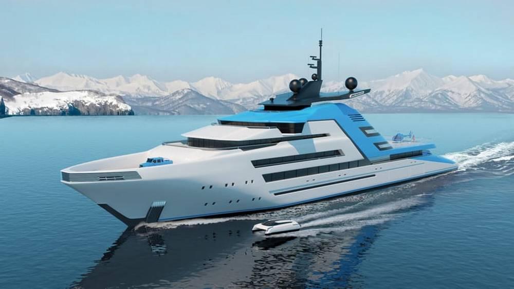 Aurora Borealis 122m superyacht concept