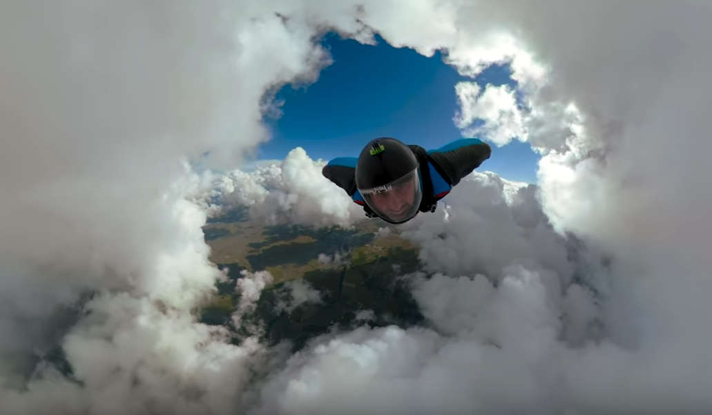 Epic Cloud Cave Wingsuit Flight