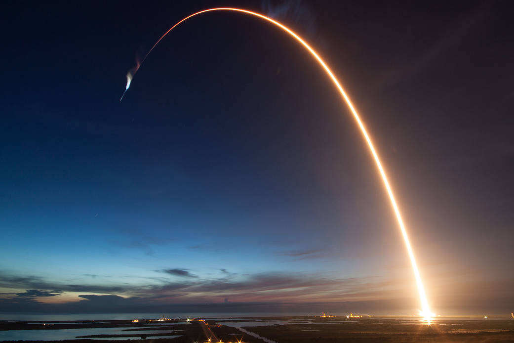 Falcon 9 Rocket Launches Dragon to the ISS