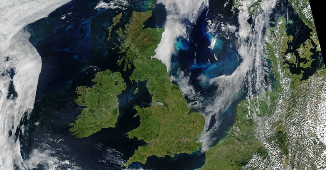 Rare Fair Skies over all of the UK and Ireland