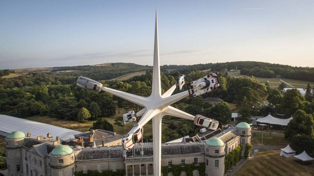 The Porsche Central Feature at the Goodwood Festival of Speed