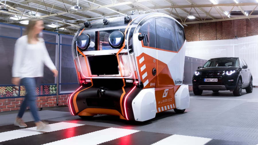 Autonomous Cars with Eyes that Acknowledge Pedestrians