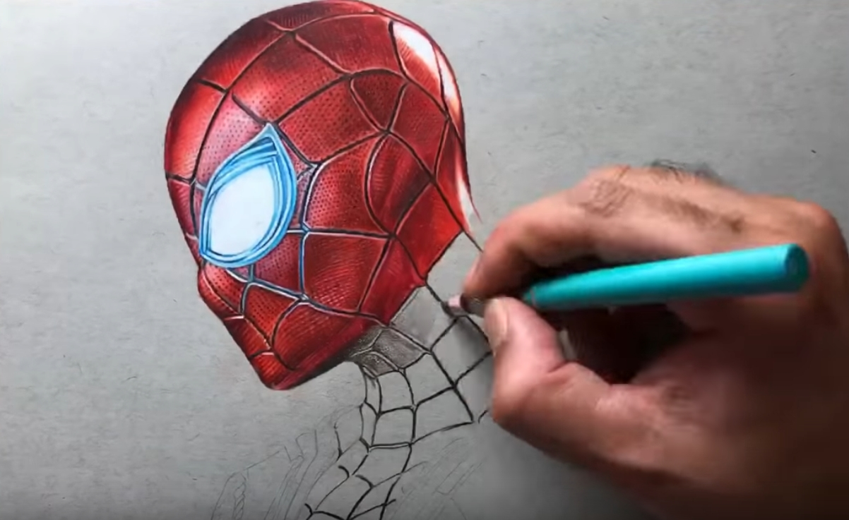 Drawing Iron Spider-Man - Timelapse
