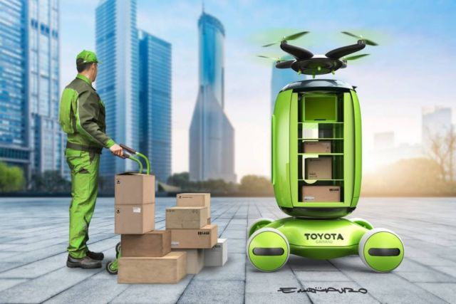 Gamaru Mailbox Drone concept