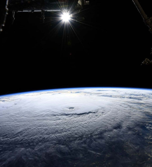Hurricane Lane from ISS