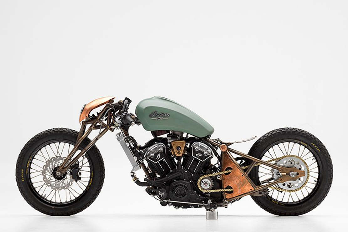 Alfredo Juarez's custom Indian motorcycle (1)