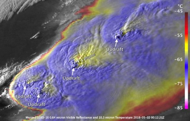 Severe Storm 'Plume' captured by NASA