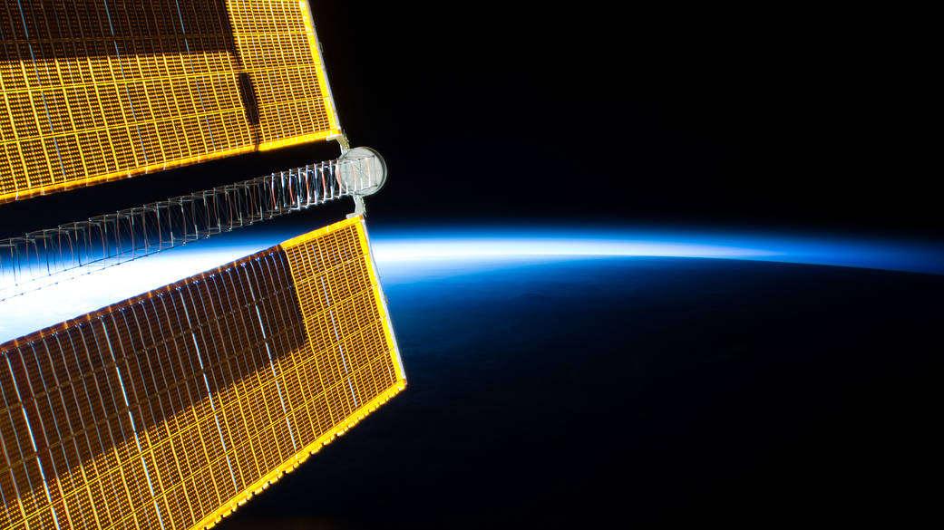 Solar Arrays in Orbital Sunrise