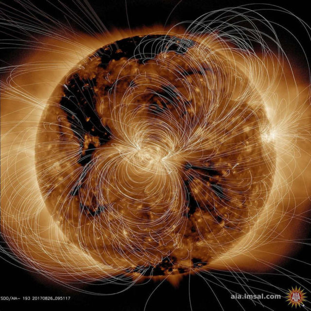 Sun's Magnetic Field Portrayed