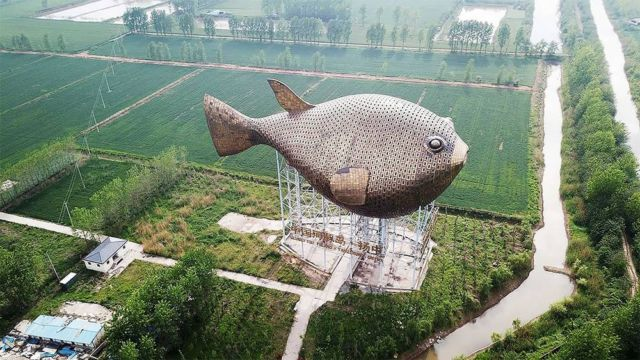 The 90-meter-long Puffer Fish Tower in China (1)
