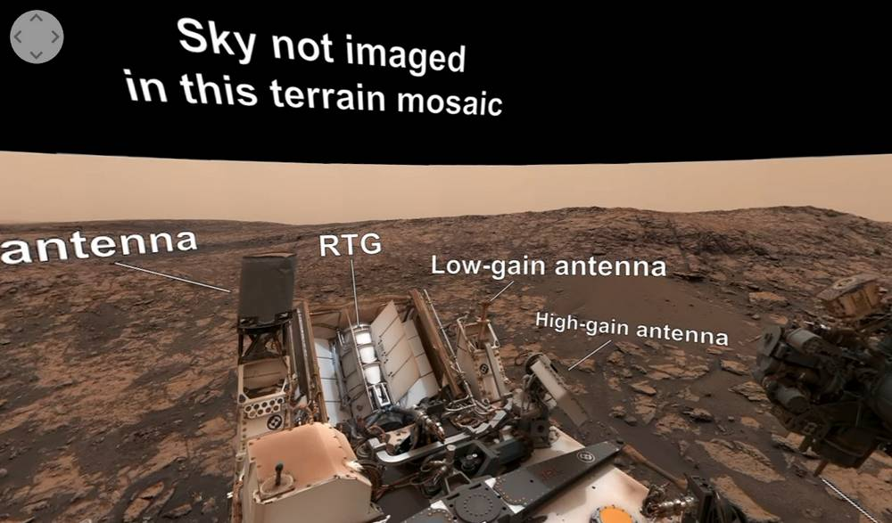 Curiosity Mars Rover on Vera Rubin Ridge – 360 view