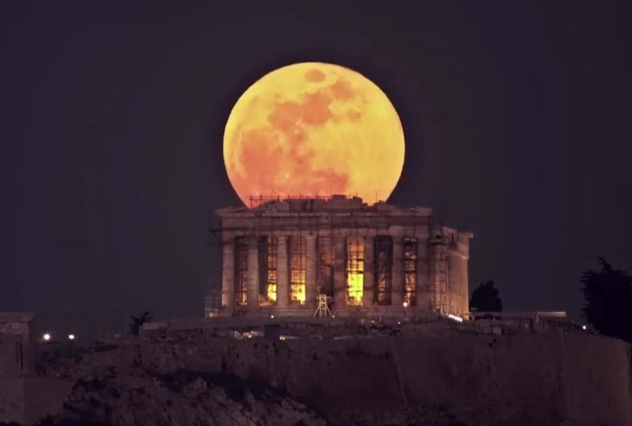 Full Moon rising from the Acropolis