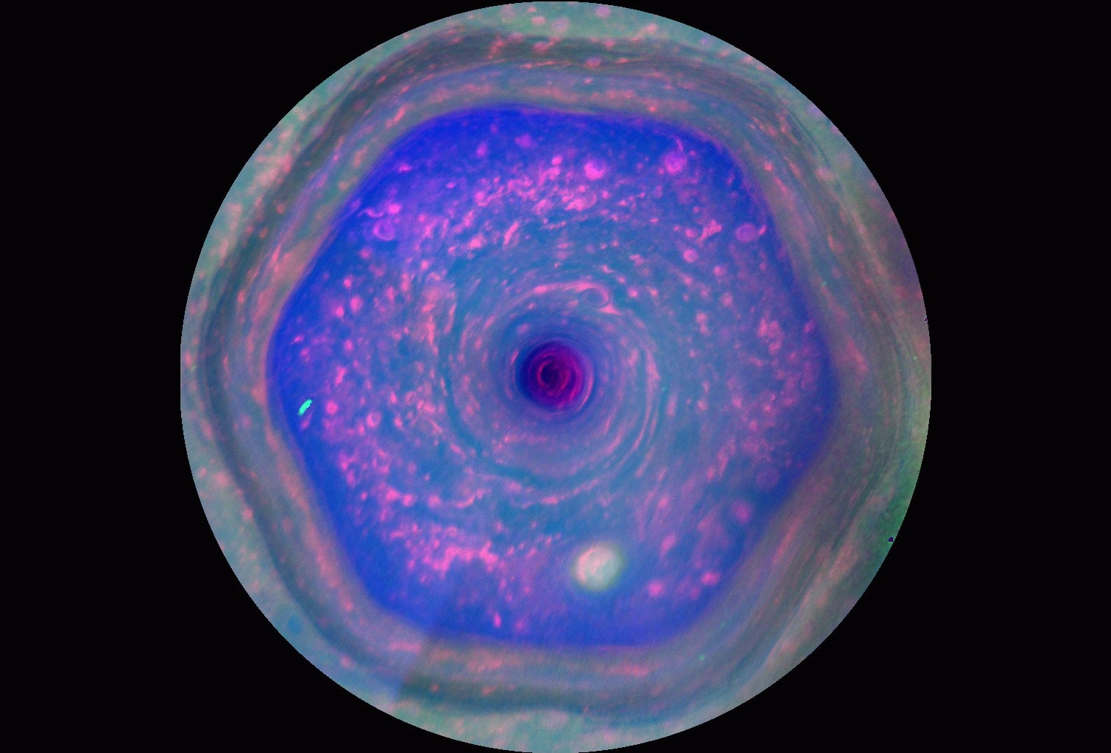 Highest-resolution view of Saturn's North Polar hexagon
