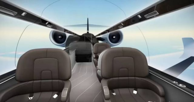 In 10 Years will Fly in Windowless Planes