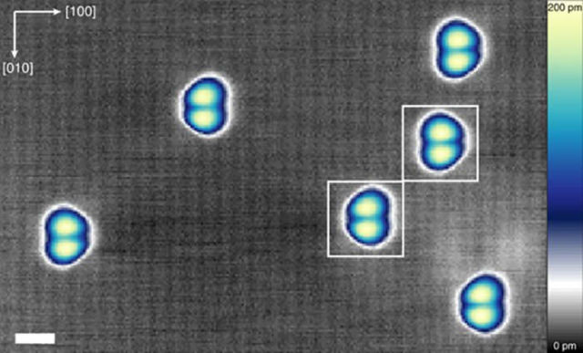 New mechanism for Information Storage in one Atom