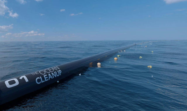 Ocean Cleanup launched world's first Cleanup System