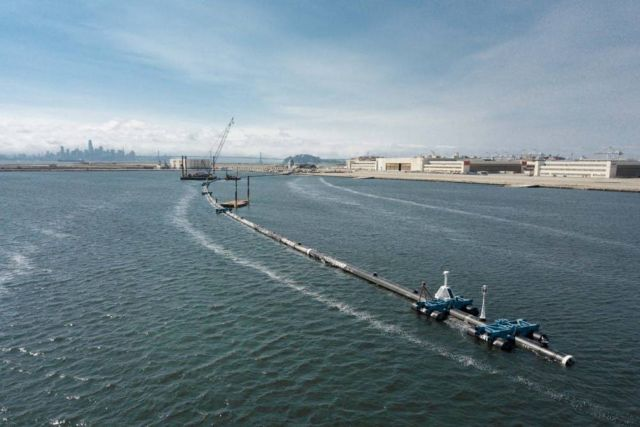 Ocean Cleanup system ready for tests