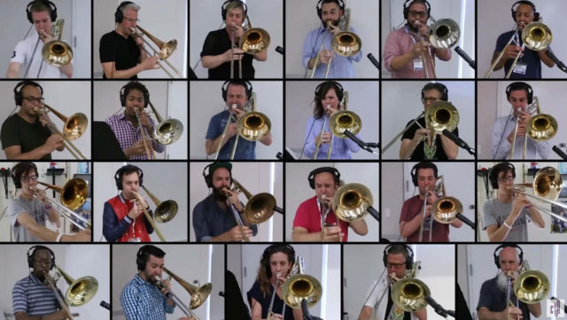 Queen- Bohemian Rhapsody- 28 Trombone Collaboration