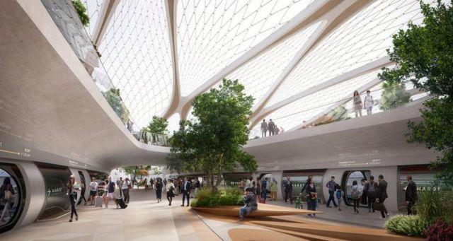 UNStudio unveils Hyperloop 'Stations of the Future' (7)