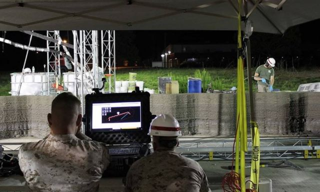 US Marines builds barracks with world's largest 3D printer