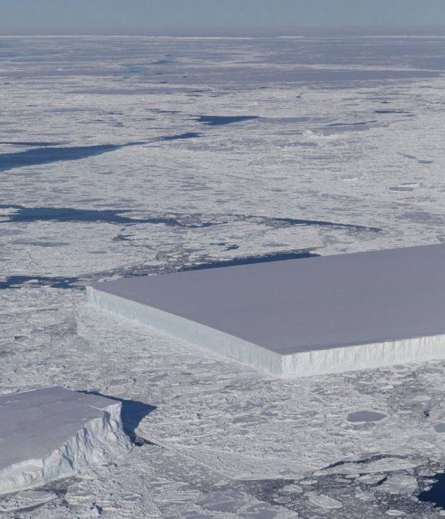 A Giant Perfect Rectangular Antarctic Iceberg