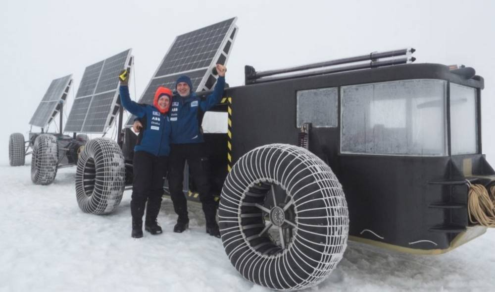 Couple to drive a Solar-Powered vehicle to the South Pole