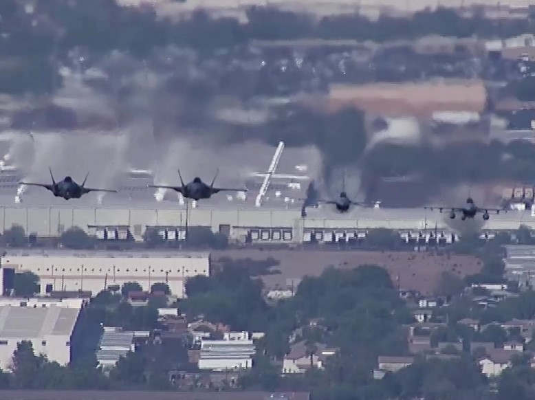 Fighter Jets low pass over Arizona State Capitol