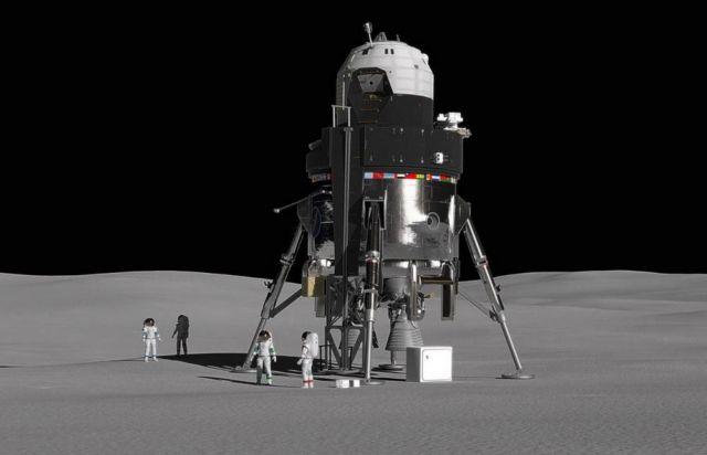 Lockheed Martin unveiled New Human Lunar Lander Concept