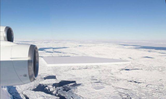 NASA releases new Pics of the baffling Rectangular Iceberg