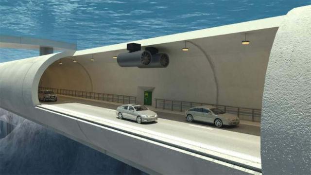 Norway's Underwater Floating Tunnel