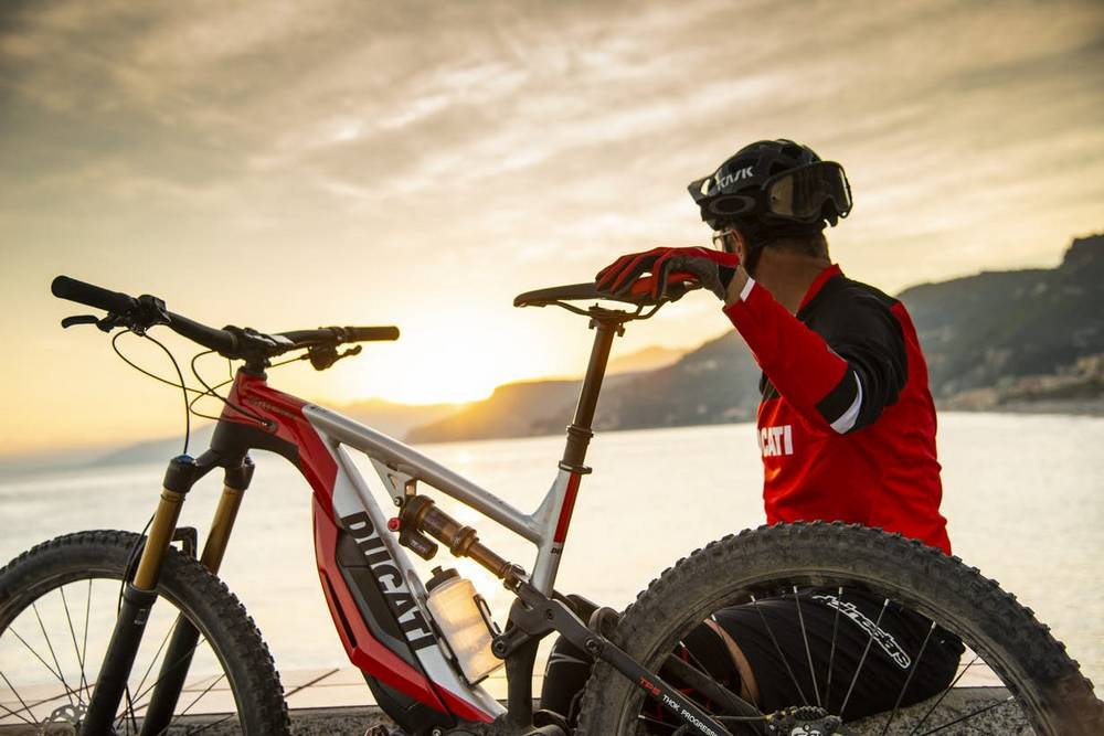 An exclusive Ducati electric mountain bike