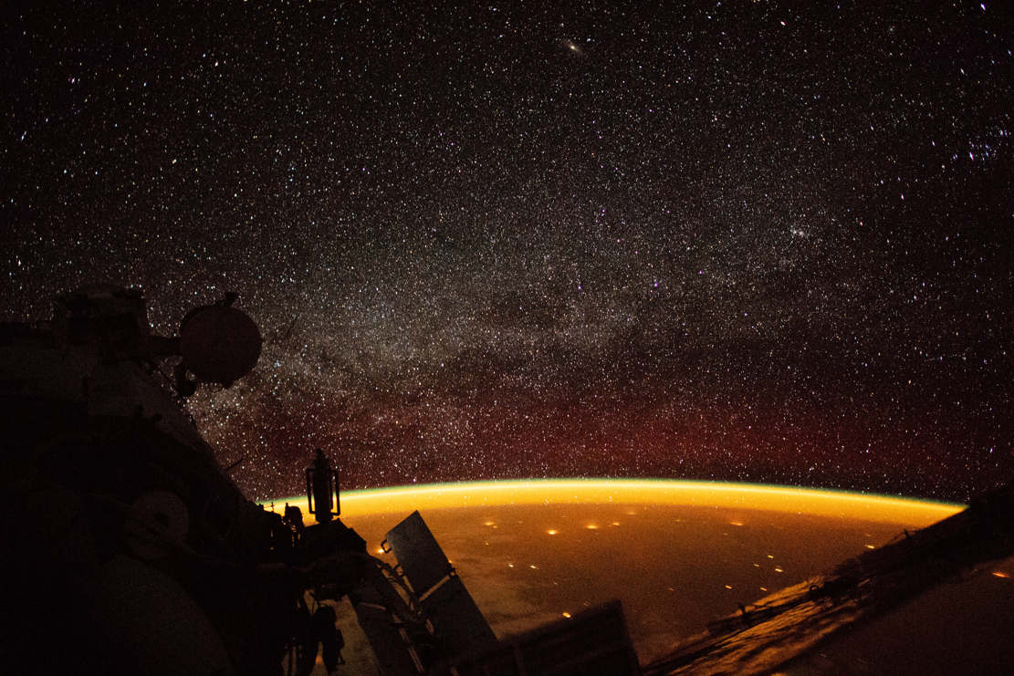 Earth surrounded by Airglow