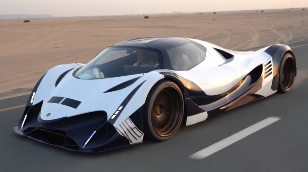 First Person to Drive the 5,000 Horsepower Devel Sixteen