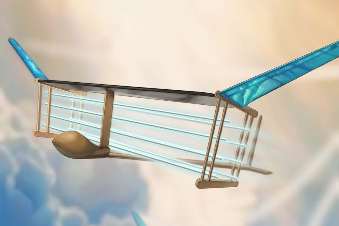 Ionic Wind-Powered aircraft in Flight