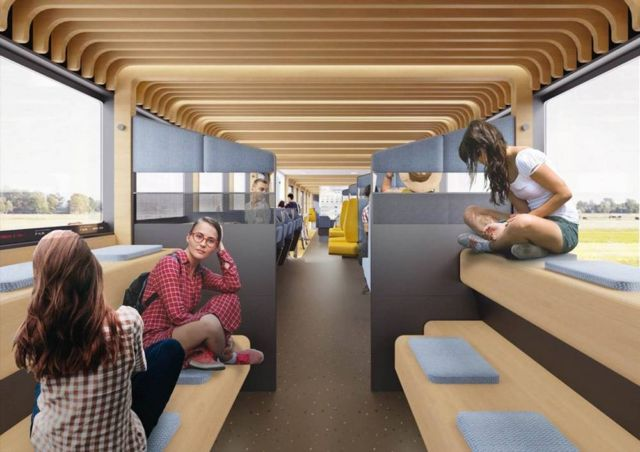 Modular interior of Dutch Trains of the Future