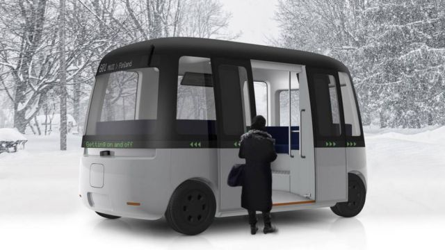 Muji Autonomous all weather Shuttle Bus