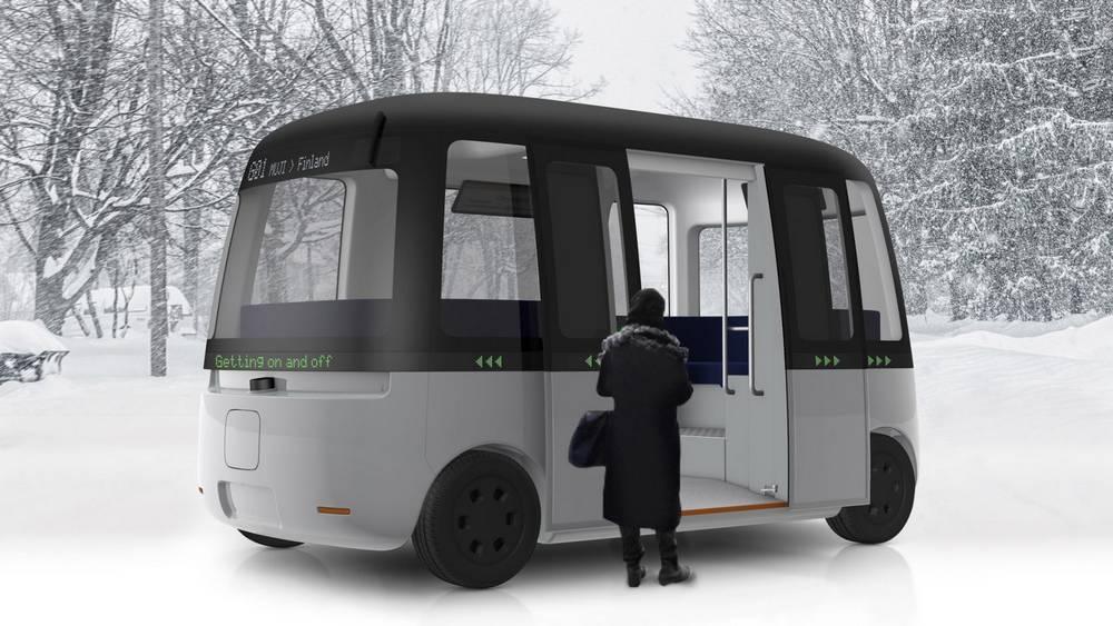 Muji Autonomous all weather Shuttle Bus