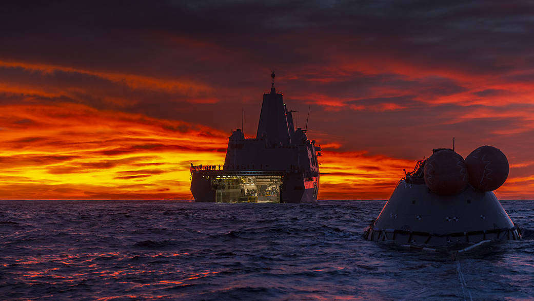 Recovery of the Test Orion Capsule