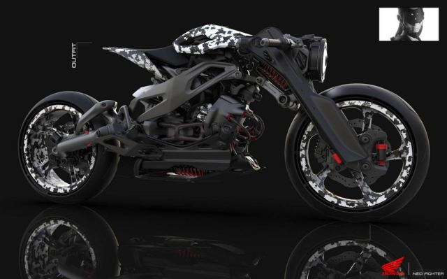Honda Neo Fighter concept motorcycle (8)