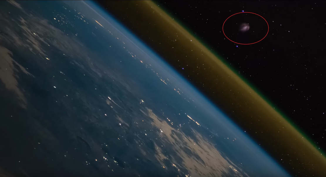 Rocket Launch as Seen from the Space Station