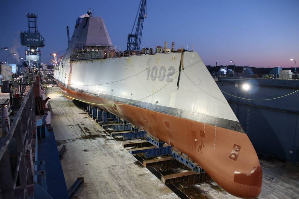 Third Zumwalt-class Destroyer launched
