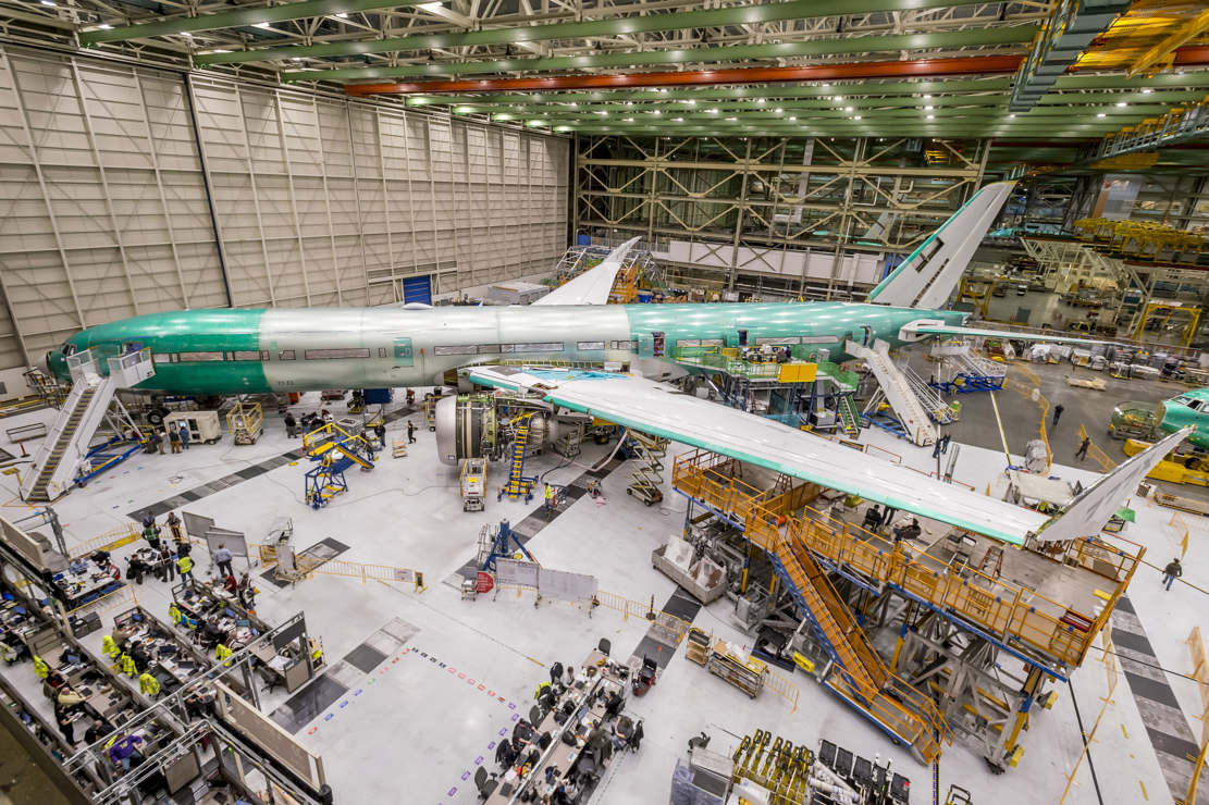 777X airliner equipped with world's Largest Engine