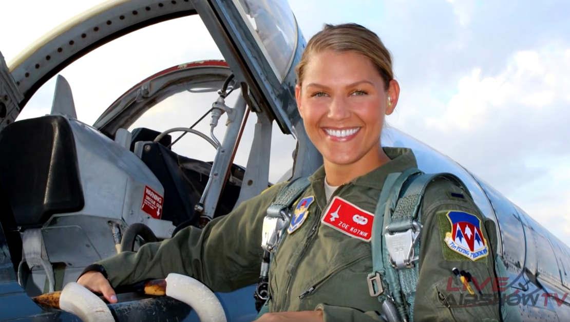 Meet Capt. Zoe Kotnik - F-16 Viper Pilot-Commander