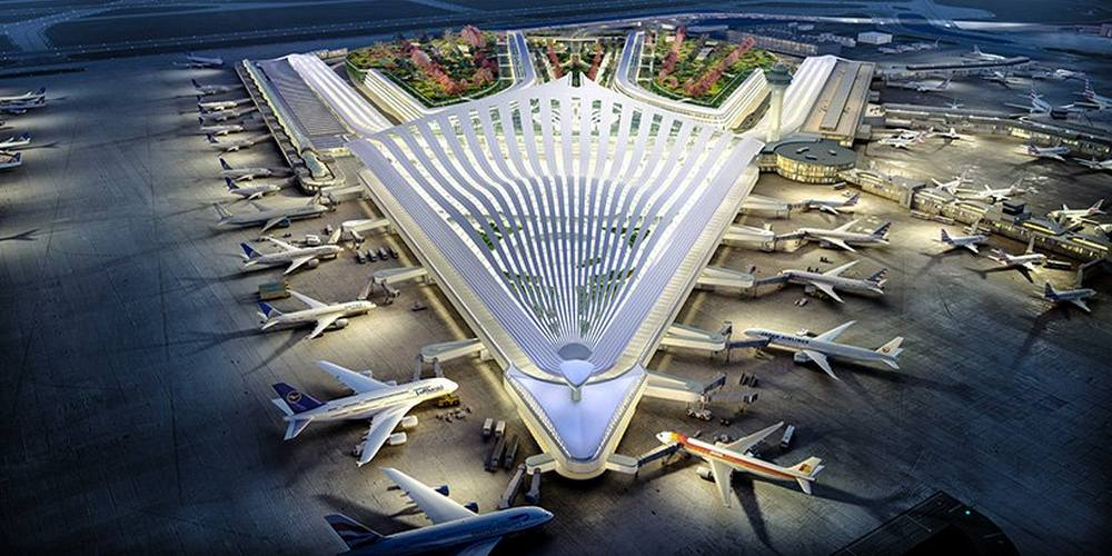 Santiago Calatrava's proposal for Chicago O'Hare Airport (7)