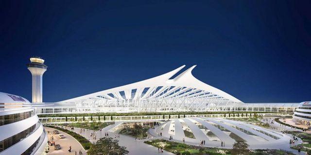 Santiago Calatrava's proposal for Chicago O'Hare Airport (6)