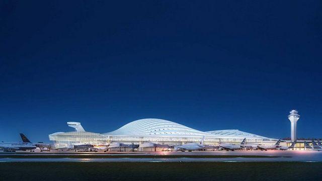 Santiago Calatrava's proposal for Chicago O'Hare Airport (4)