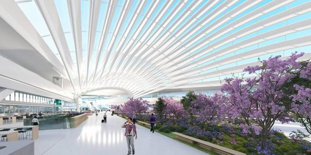 Santiago Calatrava's proposal for Chicago O'Hare Airport (3)